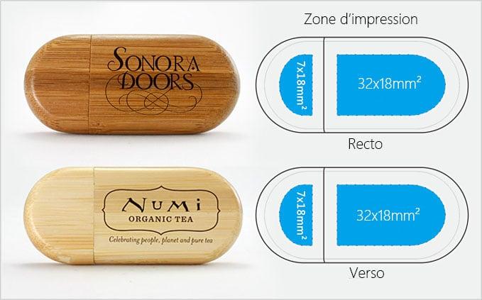 Schéma clé usb en bois publicitaire