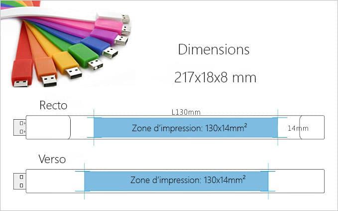 schéma clé USB bracelet publicitaire