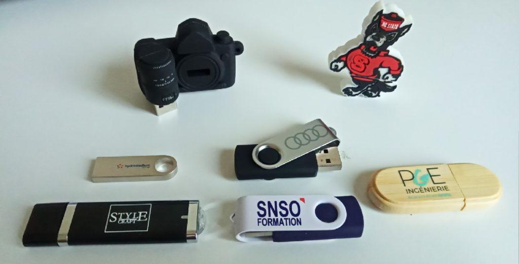Clés USB Publicitaires conçues par Made to USB