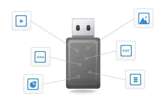 service pré-chargement de données Made to USB