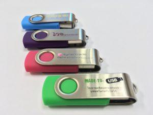 Clé USB Twister avec logo Made to USB