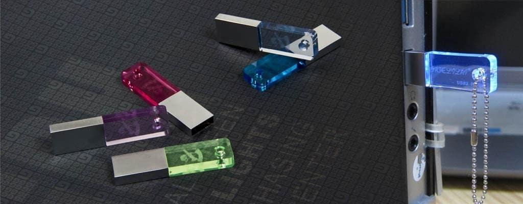 Clé usb personnalisée cristal
