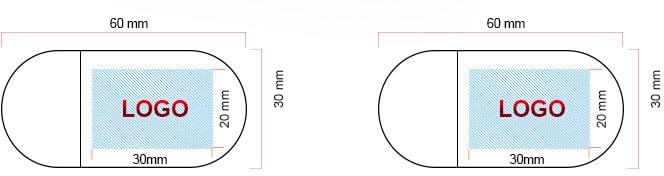 Schéma impression de logo sur clé USB en bois Made-to-usb