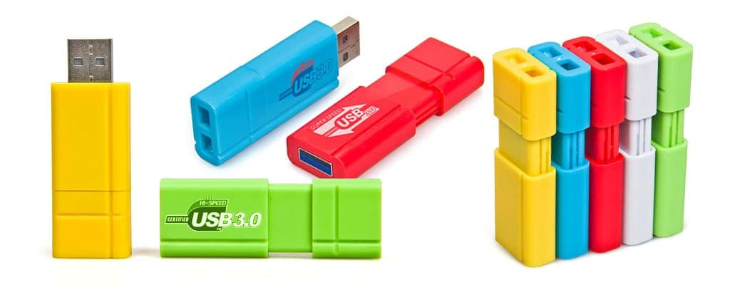 Custom retractable USB flash drive