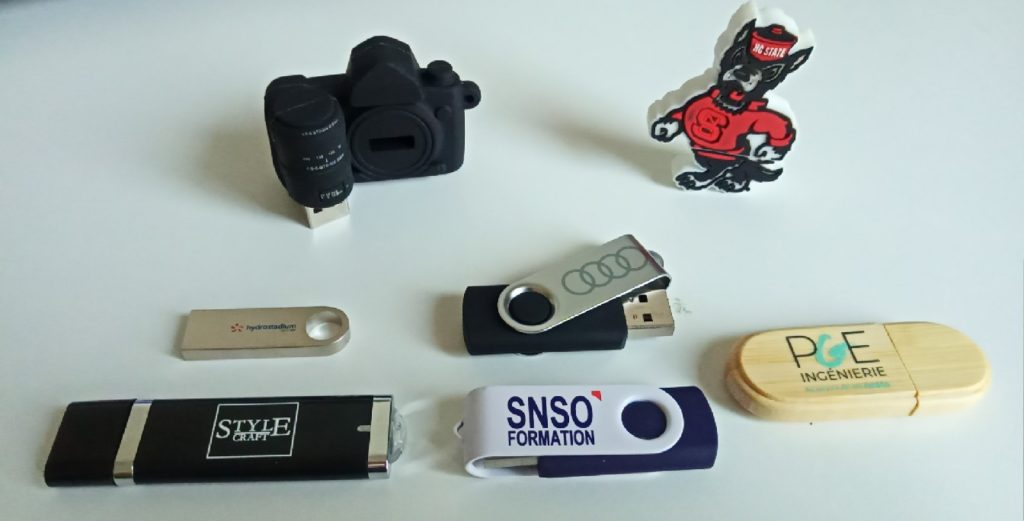 Clés USB Publicitaires conçues par Made to USB