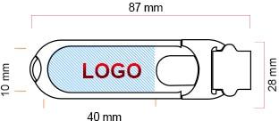 Schéma clé USB en cuir Made to usb