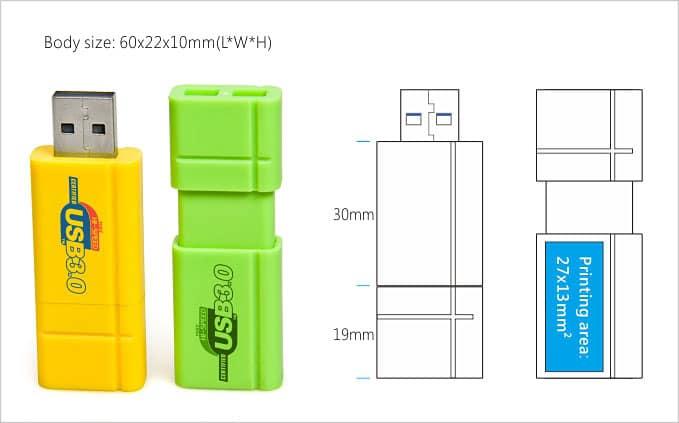 Custom USB retractable schema