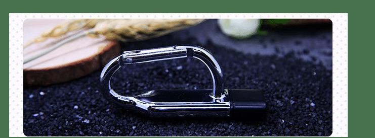 Clé USB en forme de mousqueton