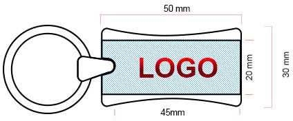 Schéma USB007 zone d'impression logo