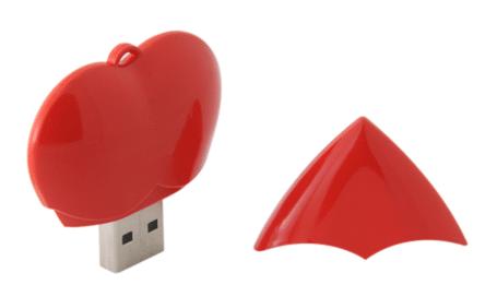 clé usb personnalisée cœur