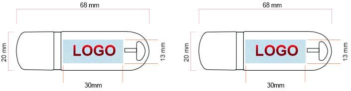 Printing area USB002