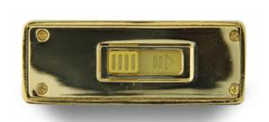 Clé USB en or dessous