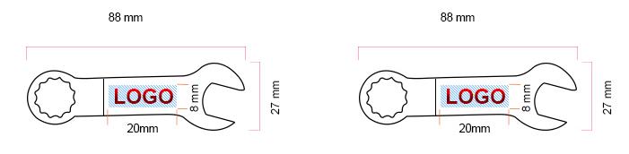 Schéma USB Clé USB en forme de clé Mixte