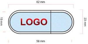 Schéma clé USB en bois BO001