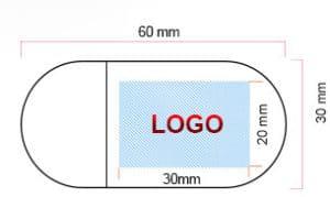 Schéma clé USB publicitaire en bois BO006